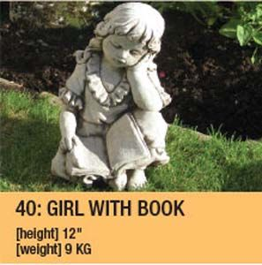 Stone Girl With Book