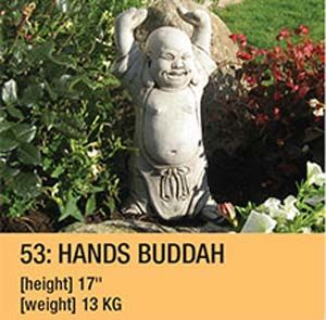 Stone Hands Buddah