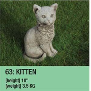 Stone Kitten Garden Ornament