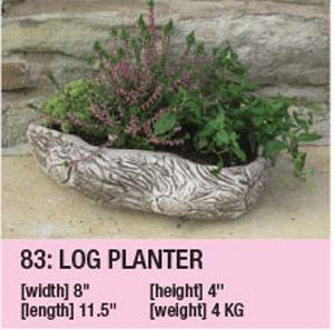 Stone Log Planter Duk101
