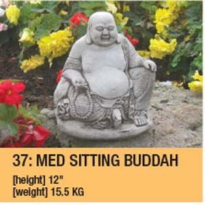 Stone Lucky Buddha Medium Garden Ornament Duk015