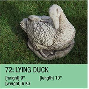Stone Lying Duck Garden Ornament
