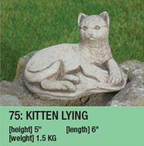 Stone Lying Kitten