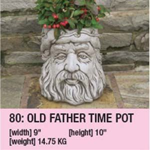 Stone Old Father Time Pot