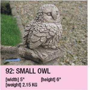 Stone Owl Garden Ornament