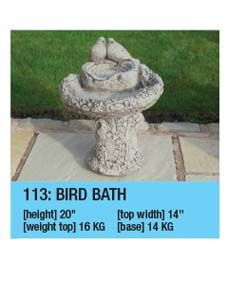 Stone Regency Bird Bath