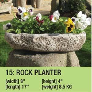 Stone Rock Planter Duk094