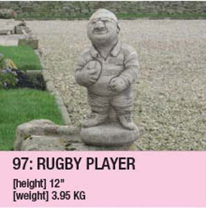 Stone Rugby Player Ornament