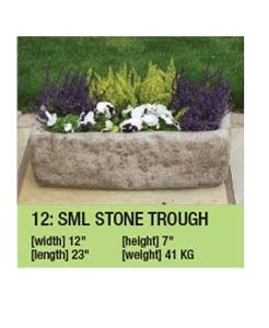 Stone Small Trough Planter Garden Ornament Duk004