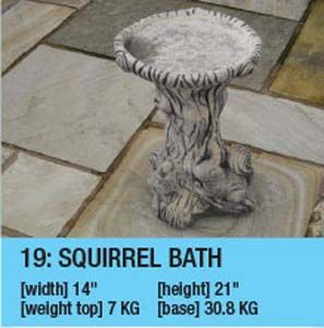 Stone Squirrel Bath