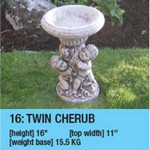 Stone Twin Cherubs B-Bath