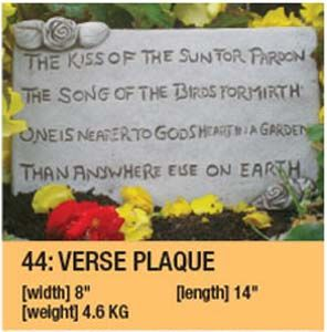 Stone Verse Plaque Garden Ornament