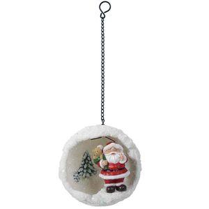 Vivd Arts Hanging Pf Santa Mini Snowball Bg-Hs61-G