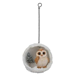 Vivid Arts Hanging Barn Owl Mini Snowball Bg-Hs57-G