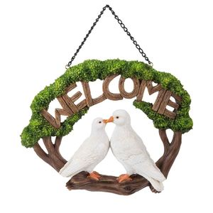 Vivid Arts Hanging Doves Welcome Sign Hgf-056