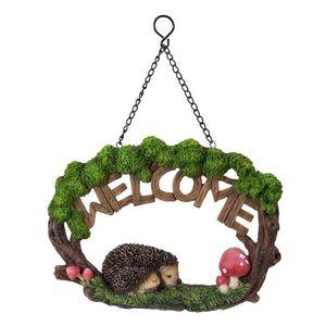 Vivid Arts Hanging Hedgehog Family Welcome Sign Hgf-054
