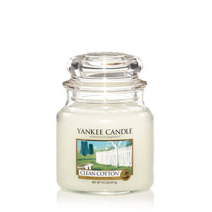 Yankee Clean Cotton Medium Jar