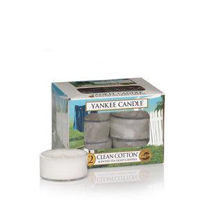 Yankee Clean Cotton Tea Lights