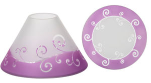 Yankee Purple Scroll Large Shade And Tray Retail Box