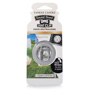 Yankee Smart Scent Vent Clip Clean Cotton