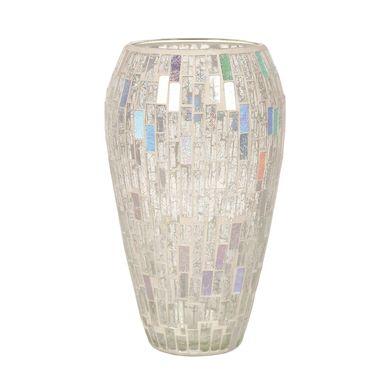 Straits Trading Co Silver Mosaic Vase 25cm Ref 22018
