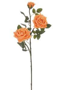 Lotus Supreme Silk Medium Open Rose Spray Apricot 104230