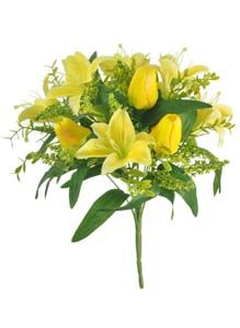 Lotus Silk Lily  Tulip Bunch Yellow 305033