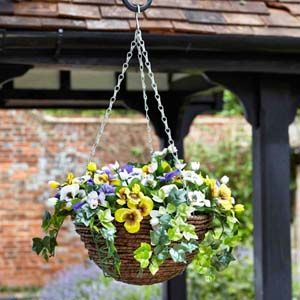 Smart Garden Pansy Artificial Hanging Basket - 5040054