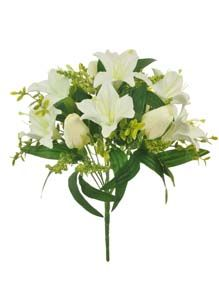Lotus Silk Lily  Tulip Bunch White 348033