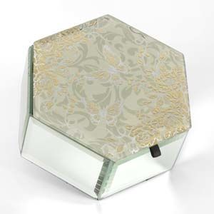 WIDDOP Sophia Gold Rose Collection Trinket Box  647TB