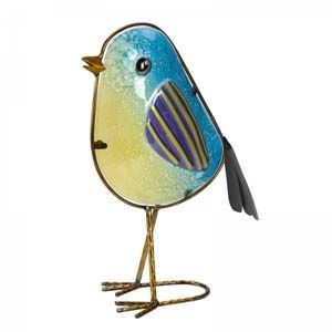 Betsy Decorative Glass Blue Tit 5030072