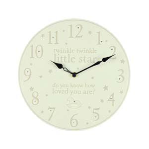 WIDDOP Bambino Resin Wall Clock 25cm Twinkle Twinkle  CG1124
