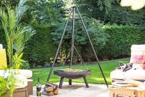 Deluxe Hanging Tripod W/Grill - 55578