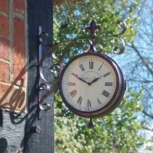 Double Sided Marylebone Station Clock & Thermometer 5063010