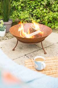 Ipata Oxidised Firepit With Steel Stand - 58261