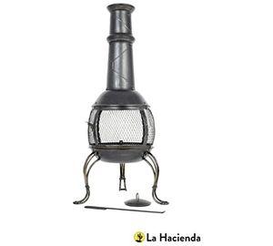 Leon Large Steel Chimenea W-Grill - 56062B