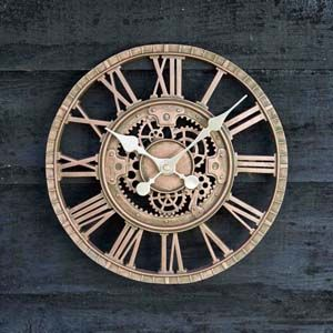 Smart Garden Newby Mechanical Wall Clock- Bronze 12'' - 5065010