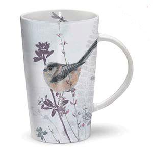 Otter House Ltd Rspb Dusk Til Dawn - Latte Mug - Long Tailed Tit Ref: 73908