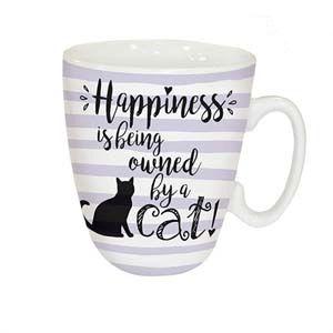 Otter House Ltd Standard Mug - Happiness Is Cat Ref: 73951