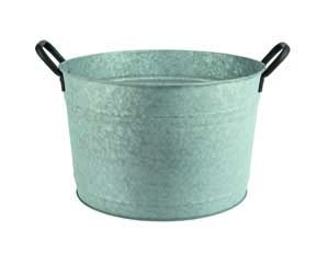 Premier Galvanised Flower Pot medium PT183008