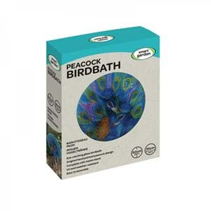 Peacock Glass Birdbath - 5030011
