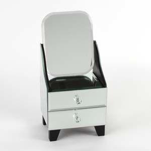 WIDDOP Sophia Mirror Glass 2 Drawer Dresser Style Jewel Box  SP1031