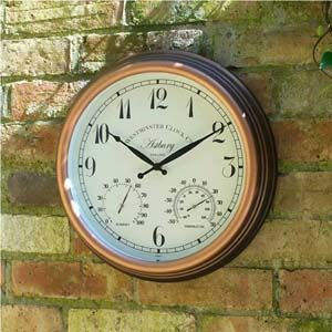 Smart Garden Astbury Wall Clock & Thermometer 12in 5060010
