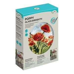 Smart Garden Poppy Glass Birdbath 5030012