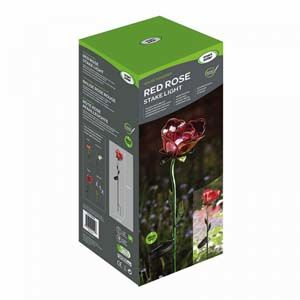 Smart Garden Red Rose Solar Light 1012538