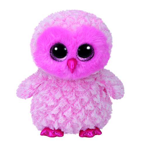 Twiggy Pink Owl- Beanie Boos Ref: 36846