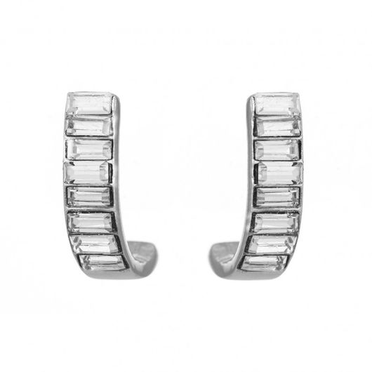 Baguette Half Hoop Earrings 1828