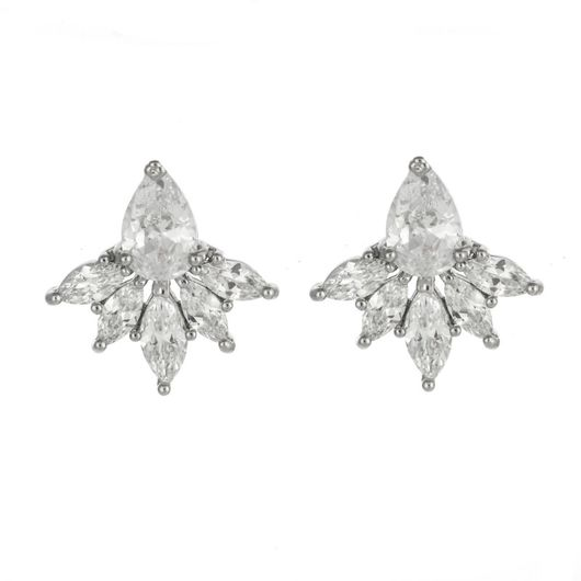Crystal Cluster Earrings 1708