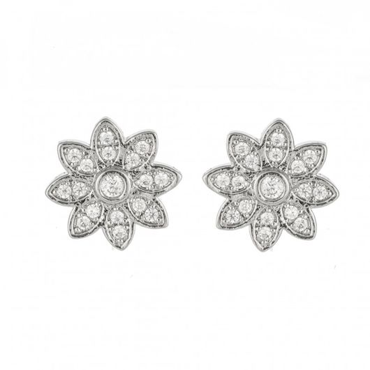 Crystal Flower Studs 1707