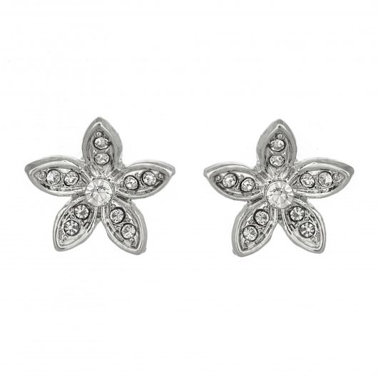 Crystal Flower Studs 1716